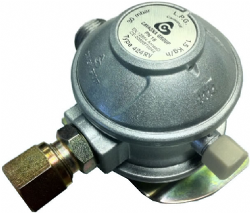 Cavagna M20 Euro Gas Regulator 8mm Angled Outlet
